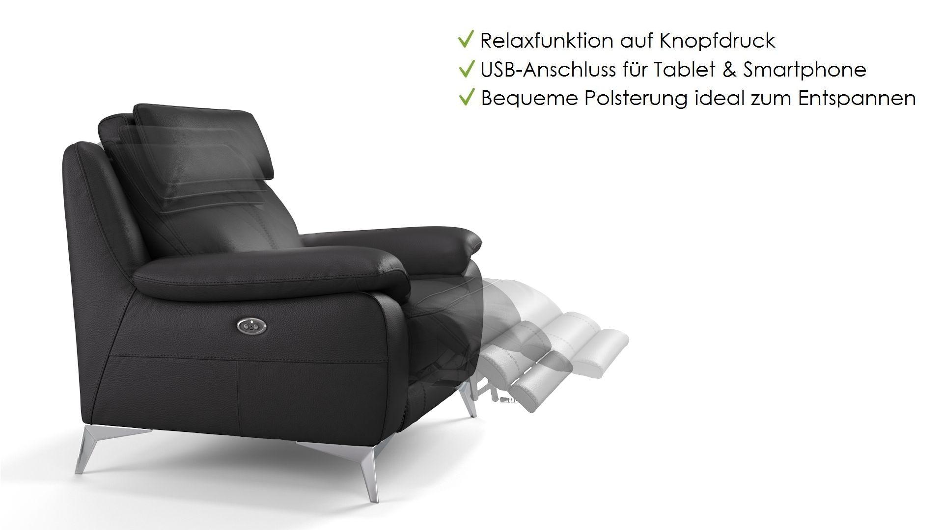 Leder 2-Sitzer Sofa ALIANO