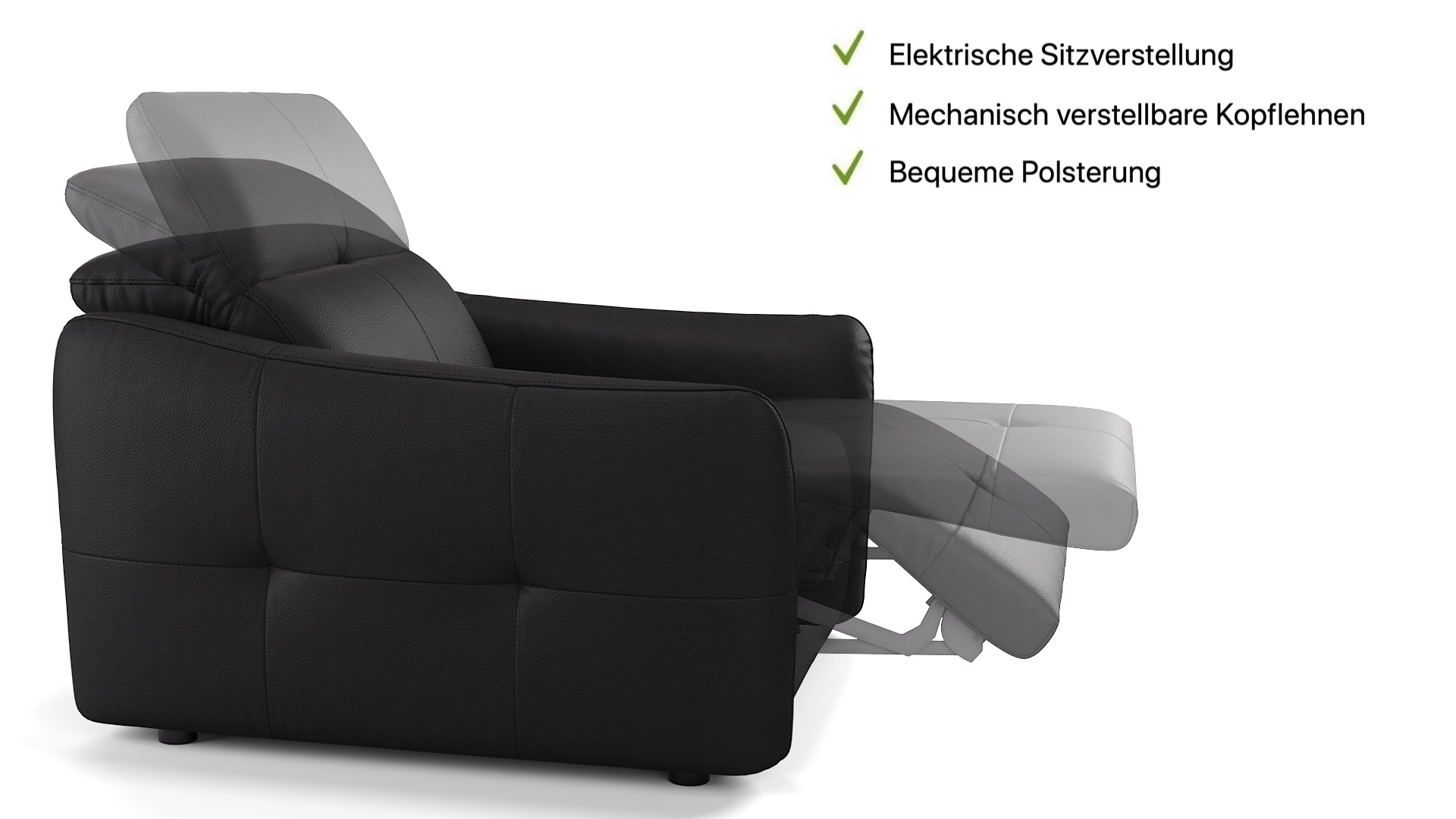 Leder 3-Sitzer CASADO