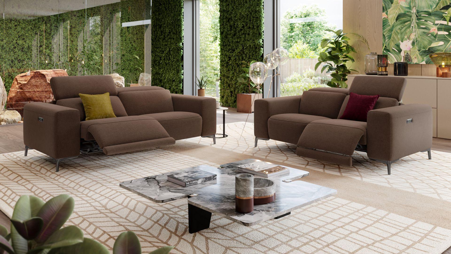Stoff 2-Sitzer Sofa BORRELLO