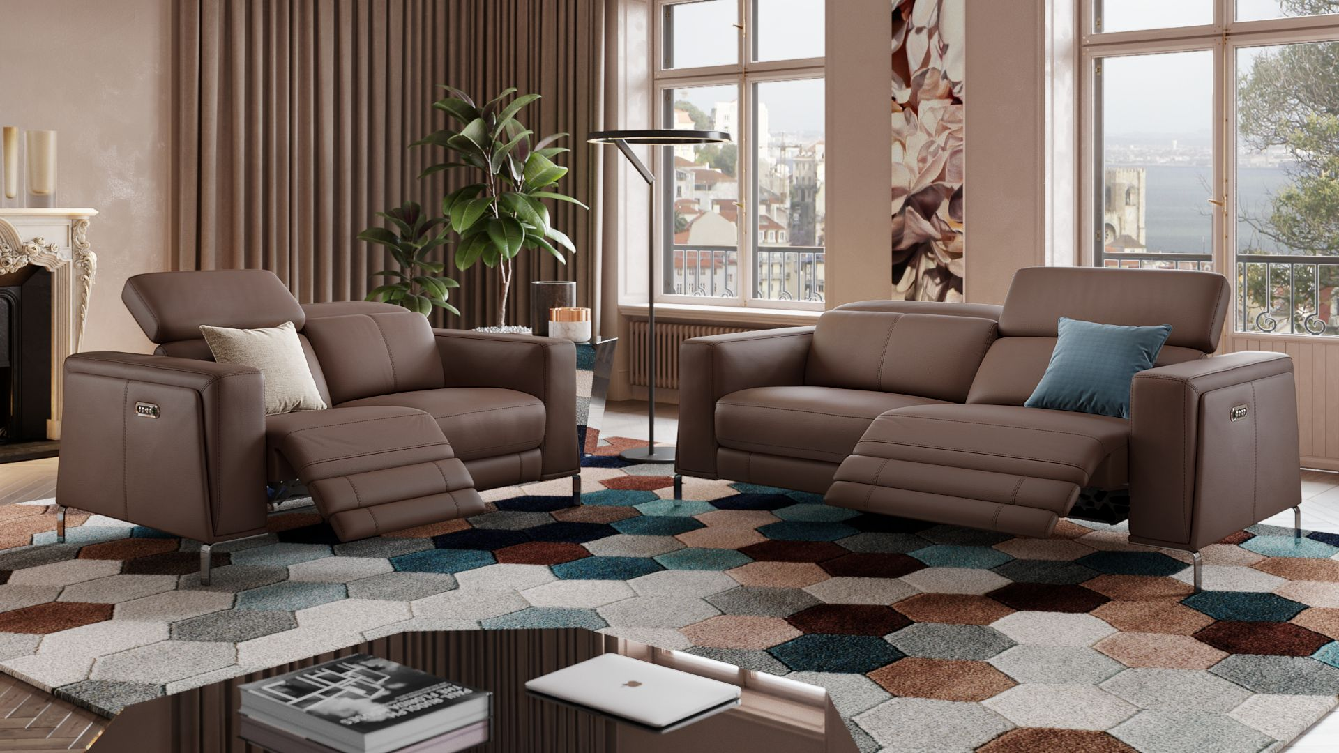 Leder 3-Sitzer Sofa CASOLI