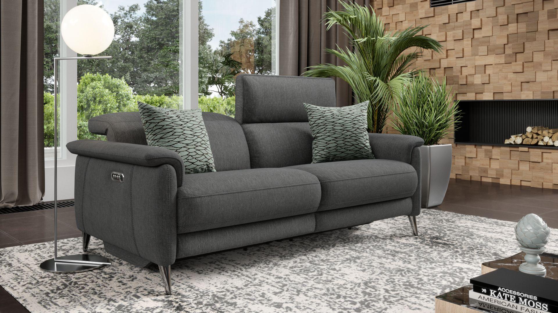 Stoff 3-Sitzer Sofa BARLETTA