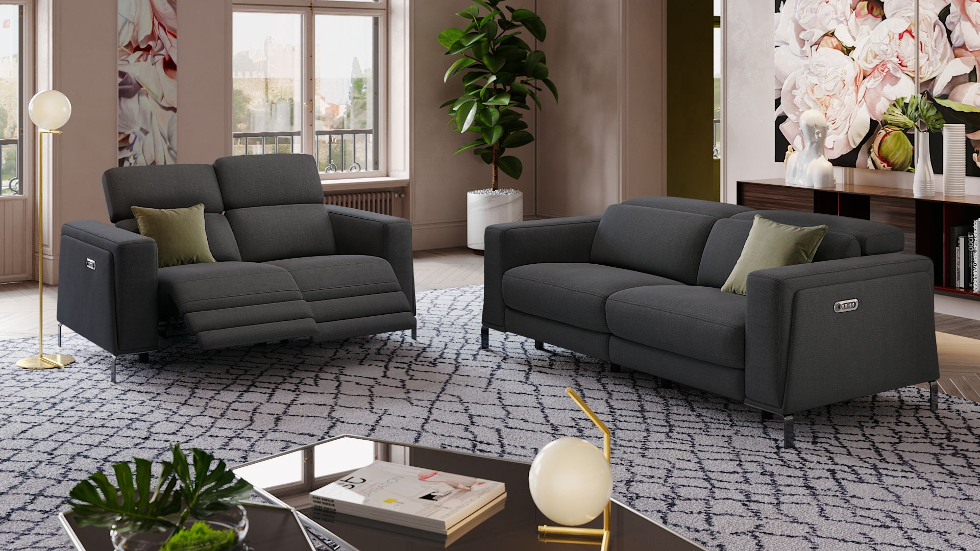 Stoff 2-Sitzer Sofa CASOLI