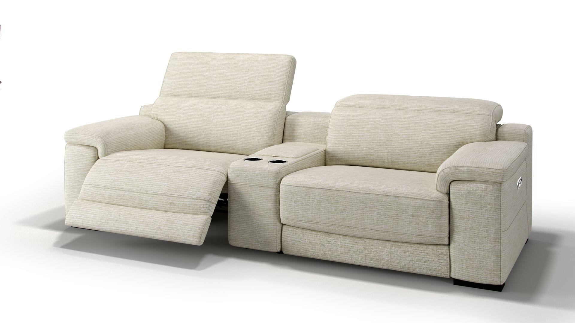 Stoff 2-Sitzer Kinosofa mit einer Mittelkonsole SORA