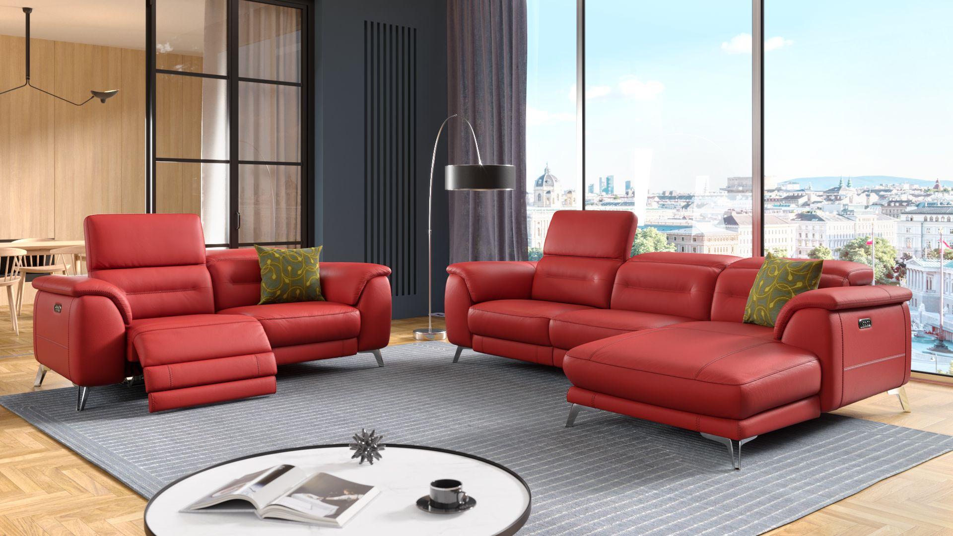 Leder 2-Sitzer Sofa GANDINO
