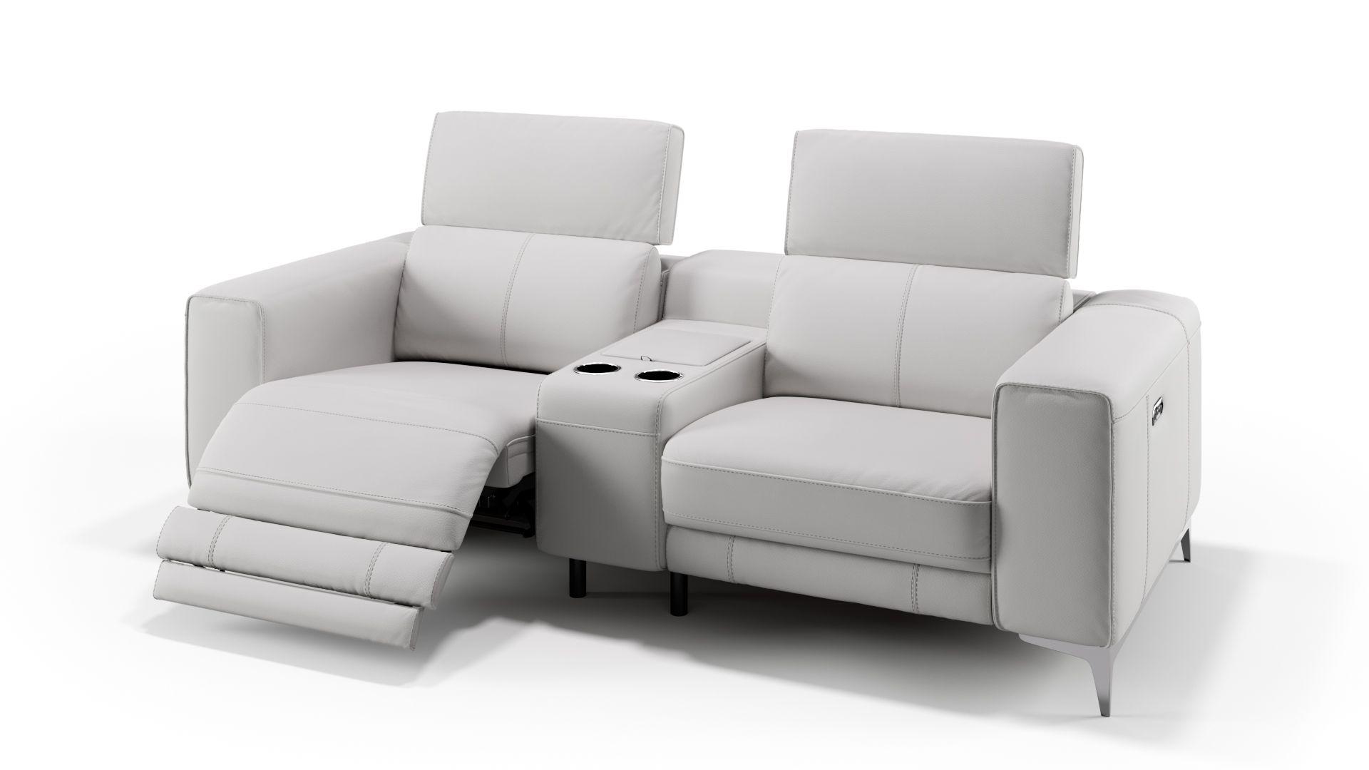 Leder 2-Sitzer Kinosofa mit einer Mittelkonsole CUPELLO