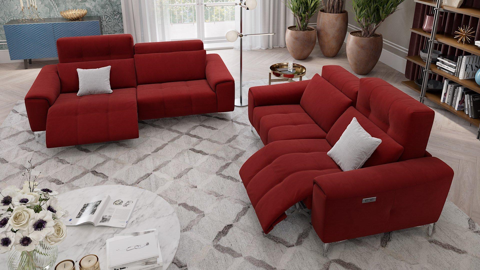 Stoff 2-Sitzer Sofa SALENTO