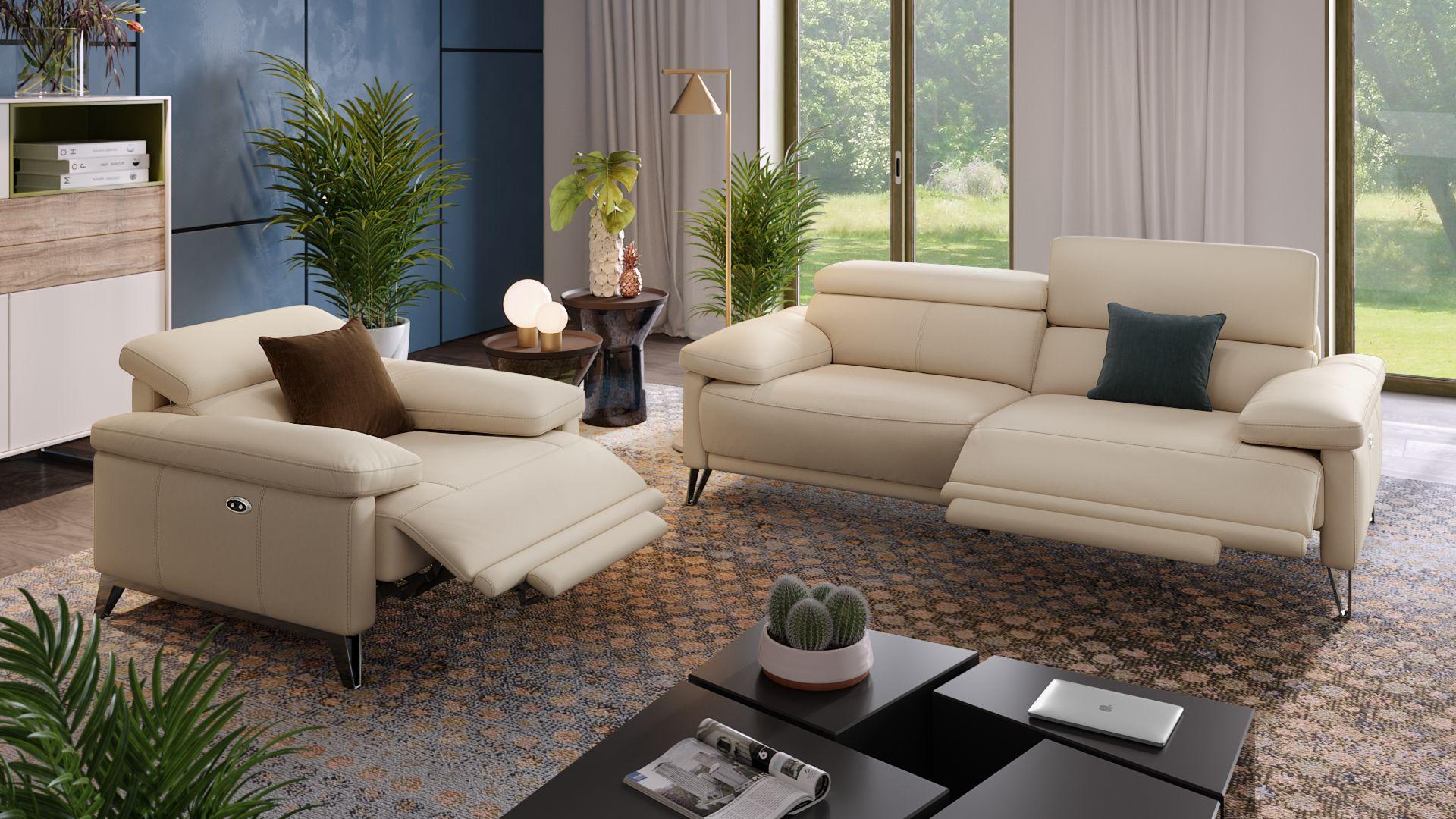 Leder 3-Sitzer Sofa CELANO