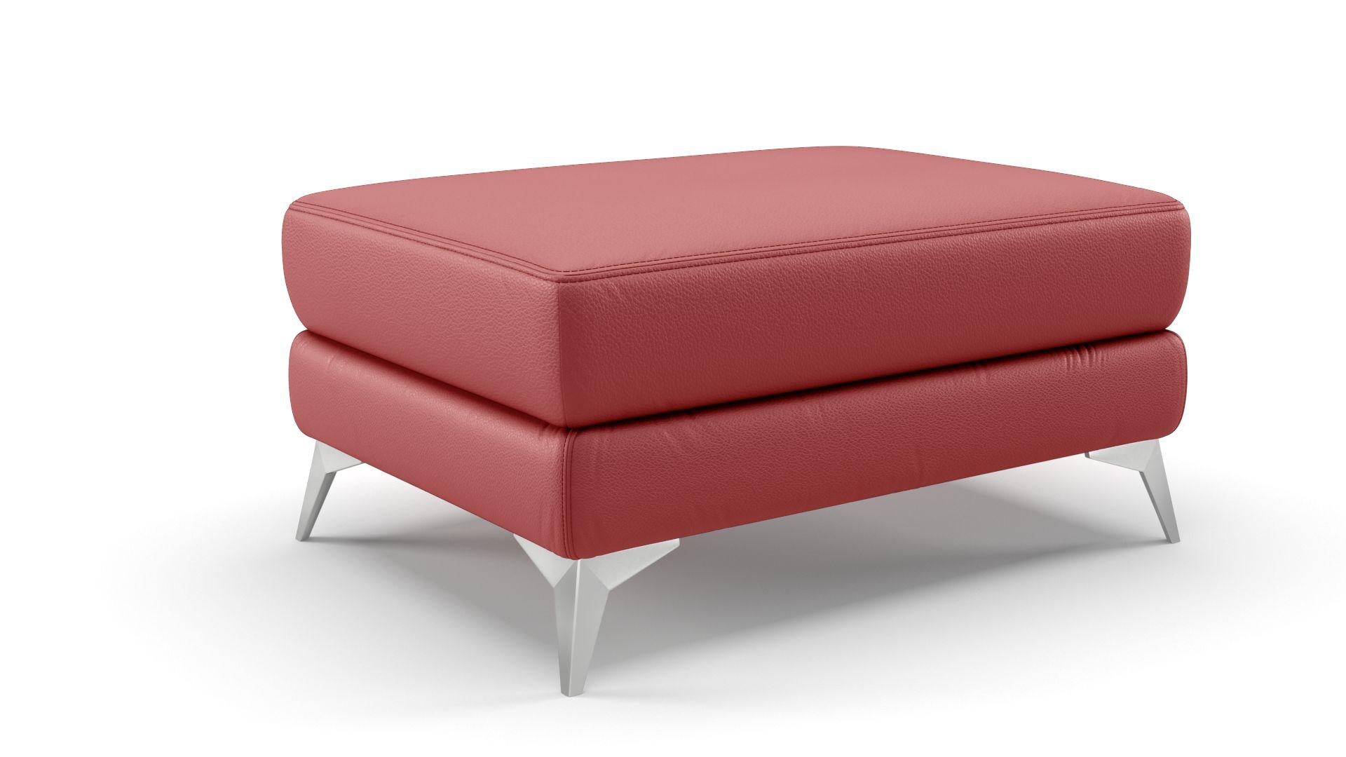 Leder 3-Sitzer Sofa VENOSA + Hocker