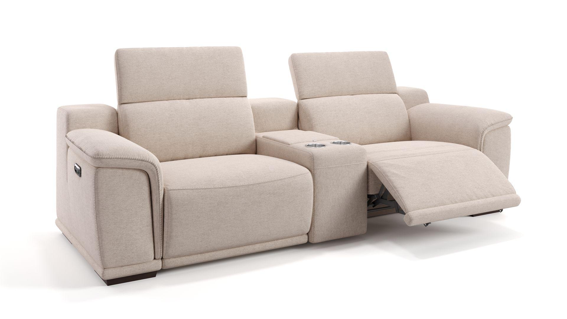 Stoff 2-Sitzer Kinosofa mit einer Mittelkonsole MONTEFINO