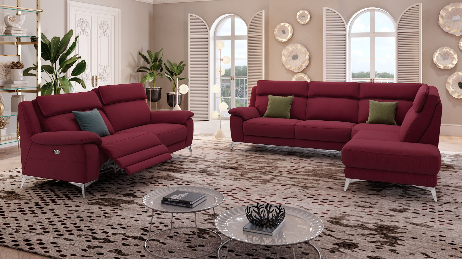Stoff 3-Sitzer Sofa ALIANO