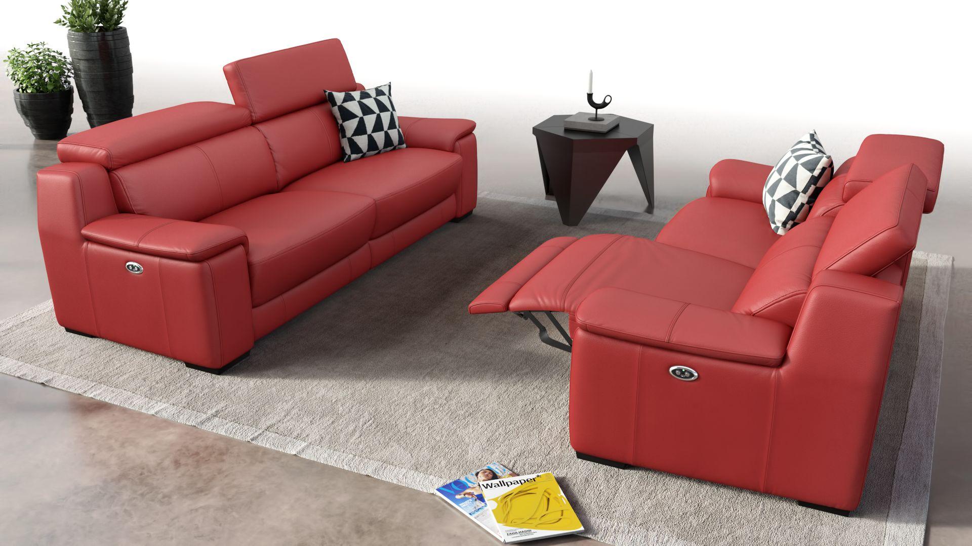 Leder 3-Sitzer Sofa VALERA