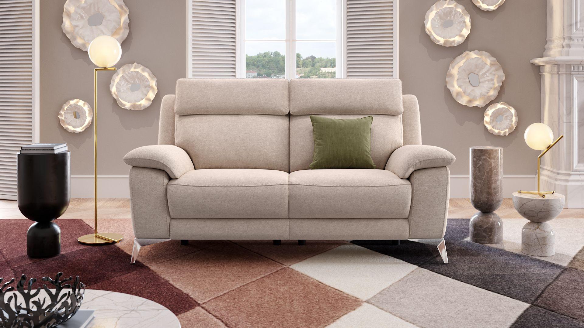 Stoff 2-Sitzer Sofa ALIANO