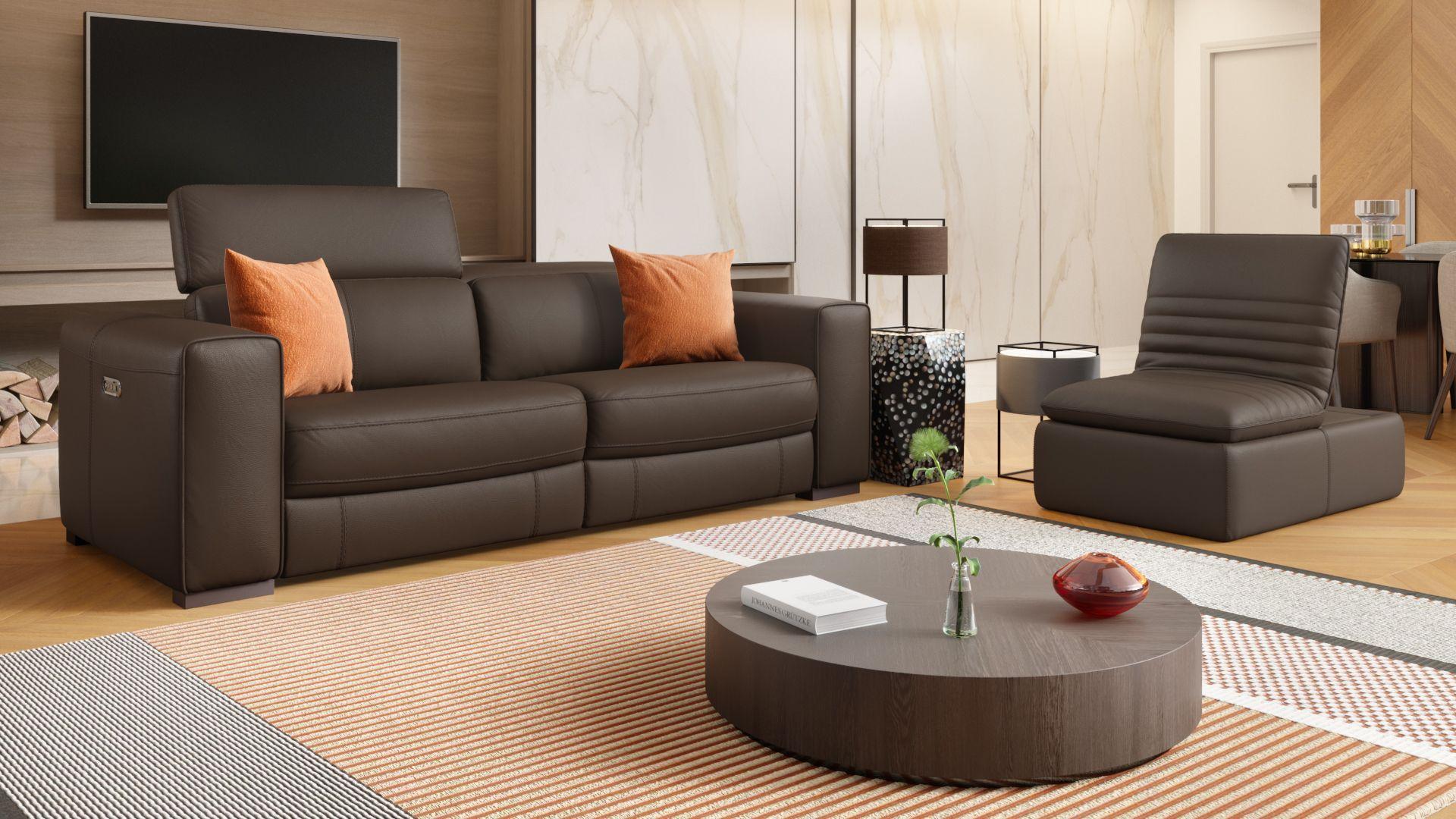 Leder 3-Sitzer Sofa BOVINO