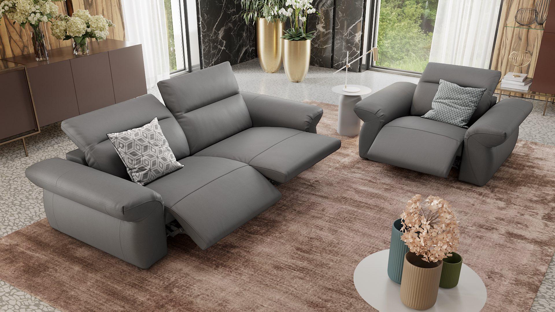 Leder 3-Sitzer Sofa VENEDIG