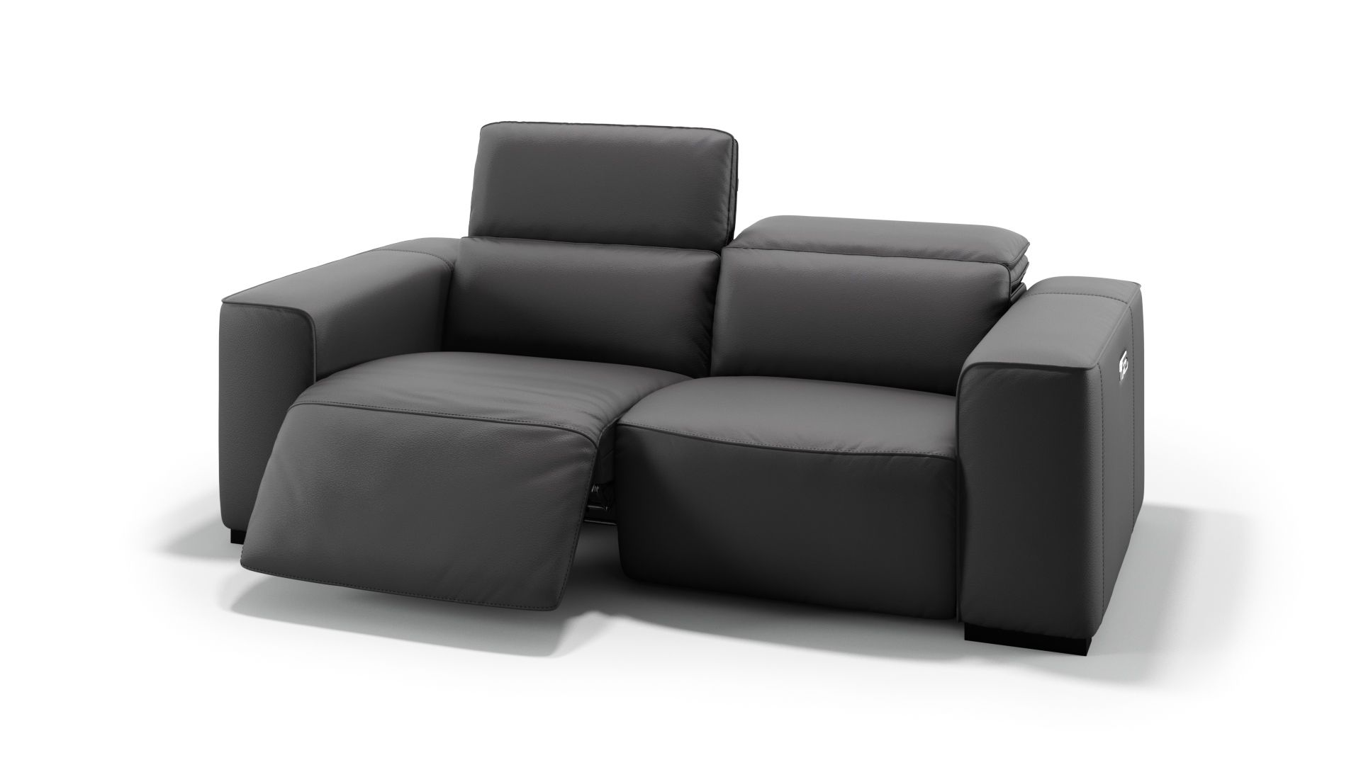 Ledersofa Binetto Moderne Sofas günstig   Sofanella