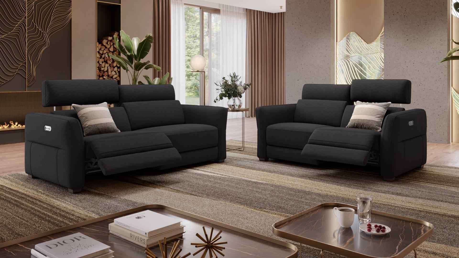 Zweier Stoffsofa Novara   Couch mit Relaxfunktion   Sofanella